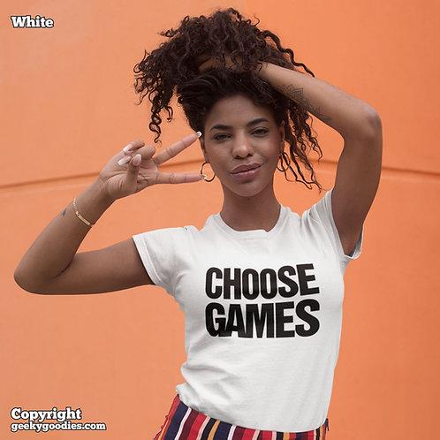 Choose Games Ladies T-shirts