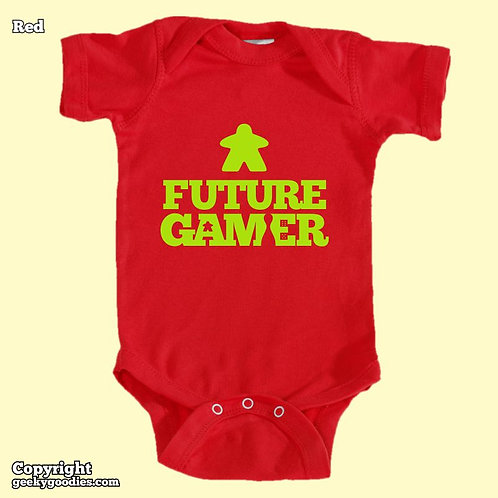 Future Gamer Baby Onesies / Infant Bodysuits (Green Letters)