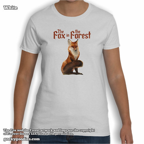 The Fox in the Forest Women's White T-shirts