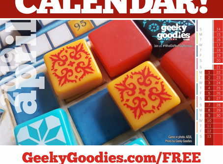 FREE Board Game Calendar for April 2019