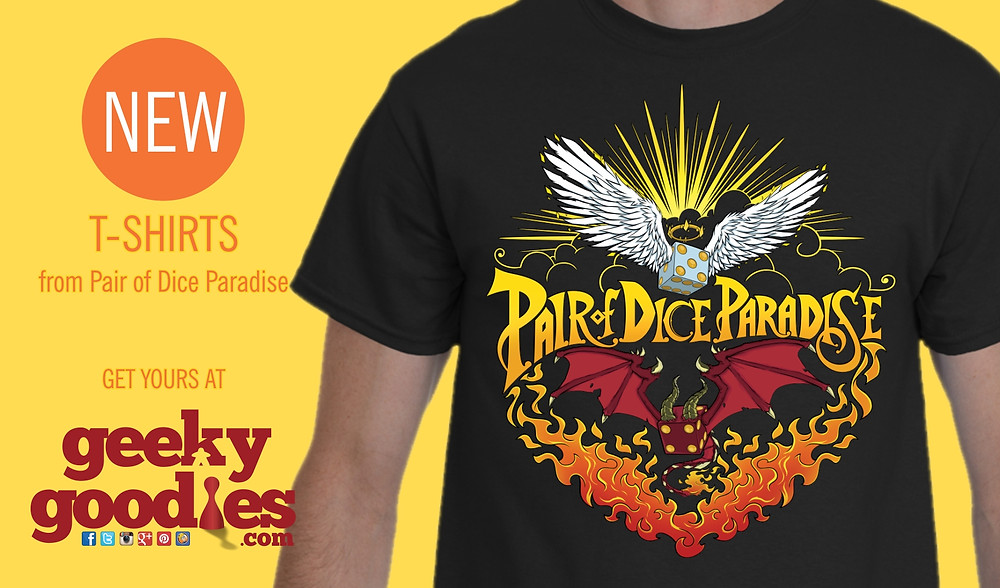 Pair of Dice Paradise T-shirts | So Metal | Geeky Goodies | T-shirts for boardgamers