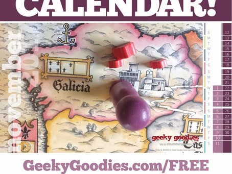 FREE Board Game Calendar for November 2017