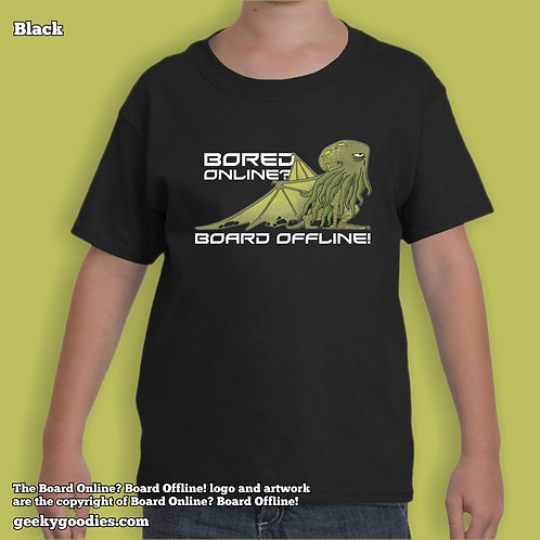 Bored Online? Board Offline! Children's T-shirt