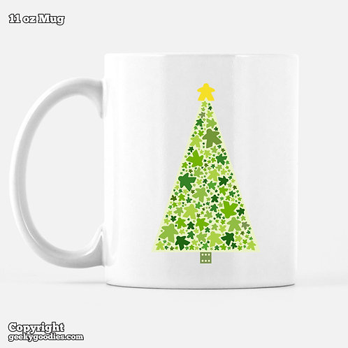 Meeple Holiday Tree Coffee and Hot Chocolate Mugs