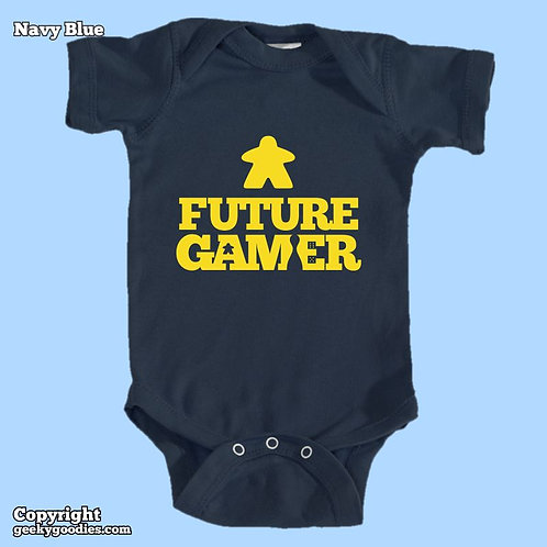 Future Gamer Baby Onesies / Infant Bodysuits (Yellow Letters)