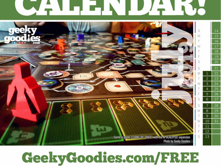 FREE Board Game Calendar for July 2019