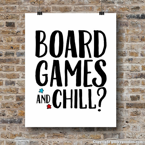 Board Games and Chill? Poster