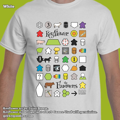TALL Sizes Keyflower: The Farmers Men's/Unisex White T-shirts