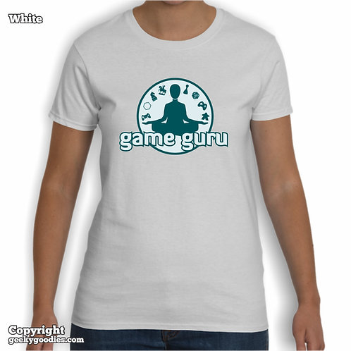 Game Guru Women's White T-shirt (Full Version)