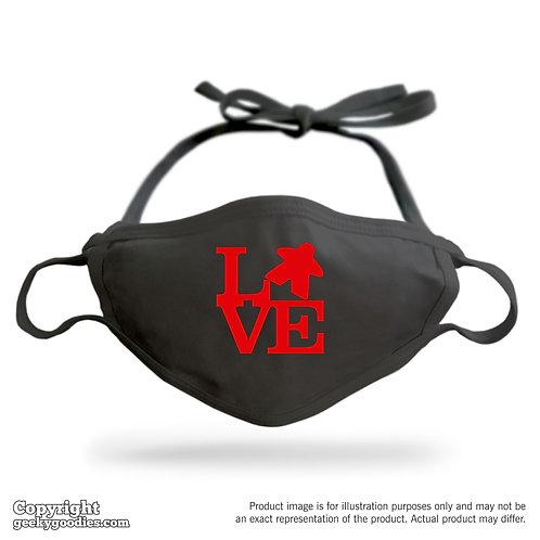 LOVE (Meeple) Adjustable Cloth Face Mask