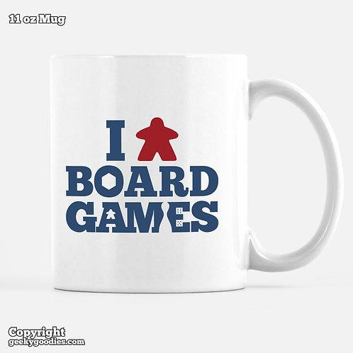 I (Meeple) Board Games Mug