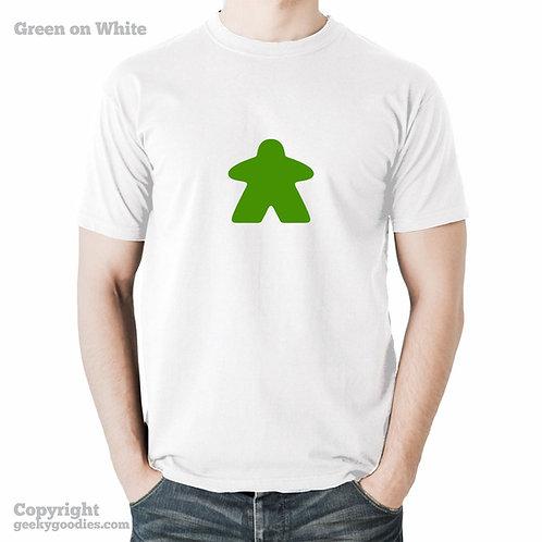 Meeple Mens/Unisex White Tshirt