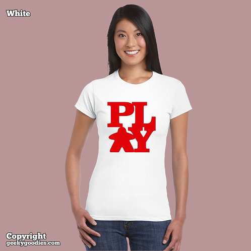 PLAY (Meeple) Women's FITTED White Tees