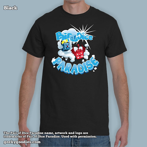 Pair Of Dice Paradise - Bouncy Clouds Mens/Unisex Tshirt