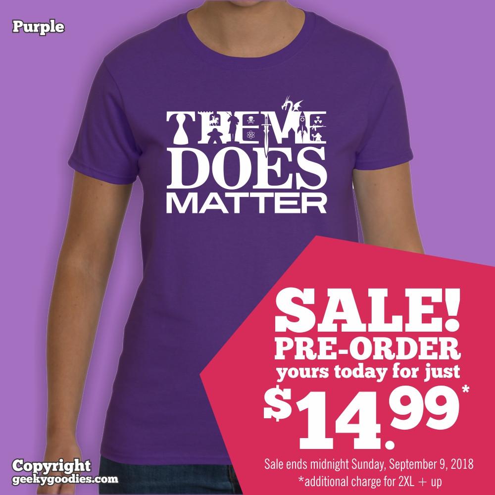 Theme Does Matter T-shirt   Geeky Goodies