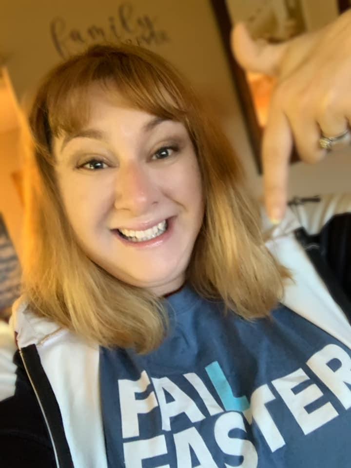 Rachael Blaske wearing Fail Faster