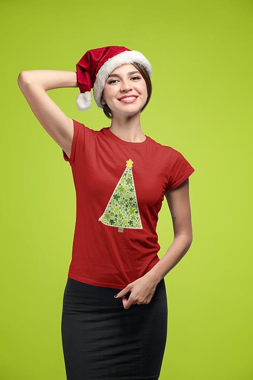 Meeple Holiday Christmas Tree Ladies T-shirts