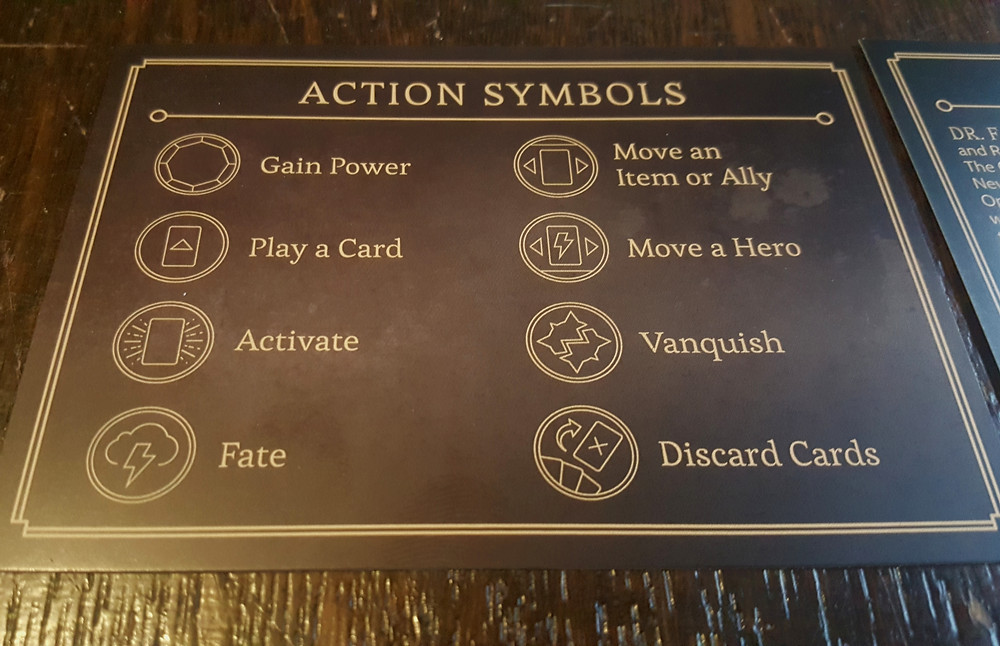 "The ""cheat sheet"" shows you all the actions available in the game"