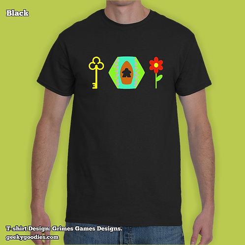 Keyflower-Inspired Mens/Unisex T-shirts