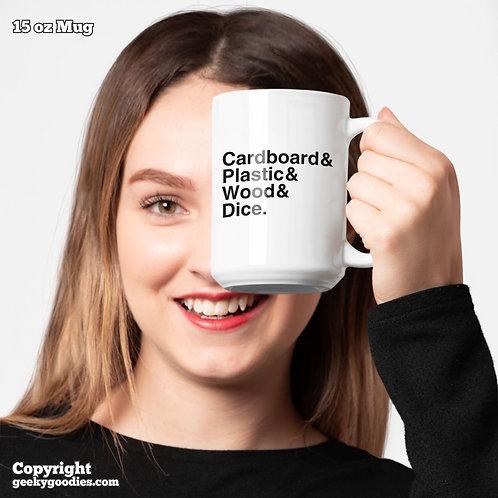 Cardboard & Plastic & Wood & Dice Coffee Mugs