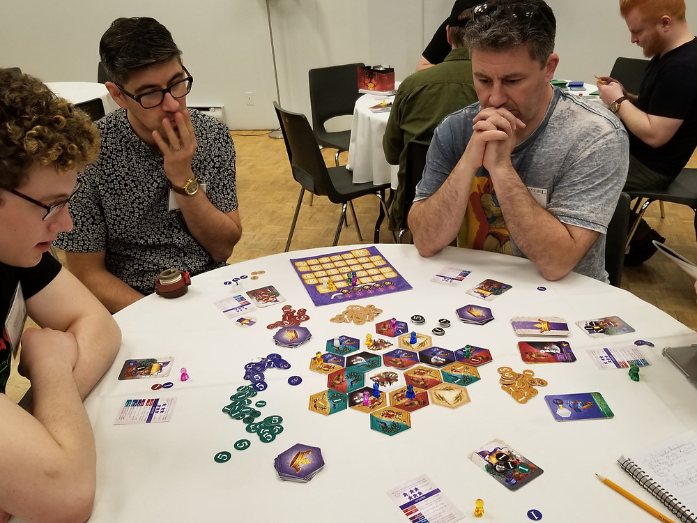 Playtesting King of Indecision. Photo by Joe Slack. Used with permission
