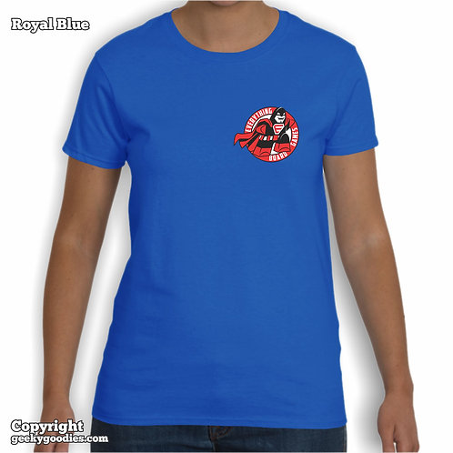 Everything Board Games (Pocket-Size Logo)  Ladies T-shirt