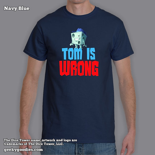 TALL Sizes Tom is Wrong Dice Tower Men's/Unisex T-shirt (Dark Colors)
