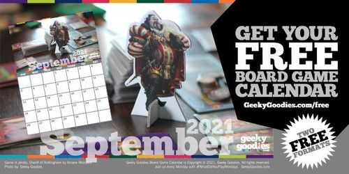 Get YourFREE Board Game Calendar!