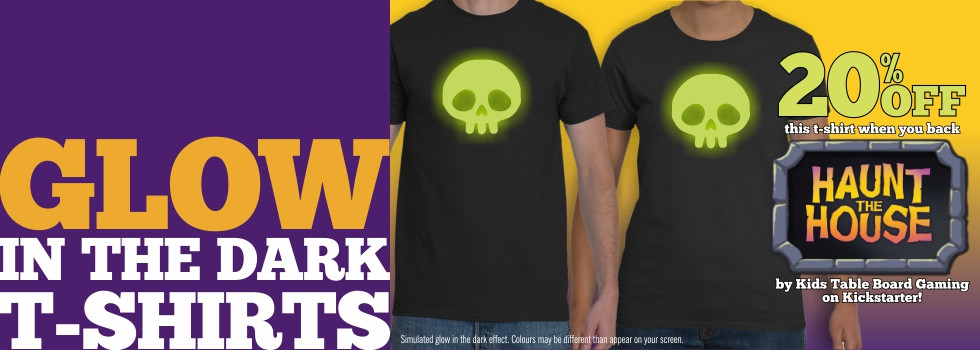 Haunt the House Glow-in-The-Dark T-shirts | Kids Table Board Gaming