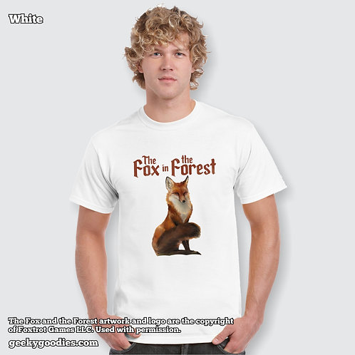 The Fox in the Forest Men's/Unisex White T-shirts for Board Gamers