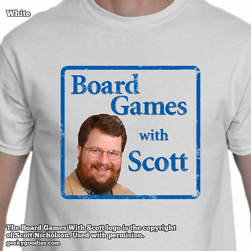 Board Games With Scott (Retro/Distressed Look) Men's / Unisex White T-shirt