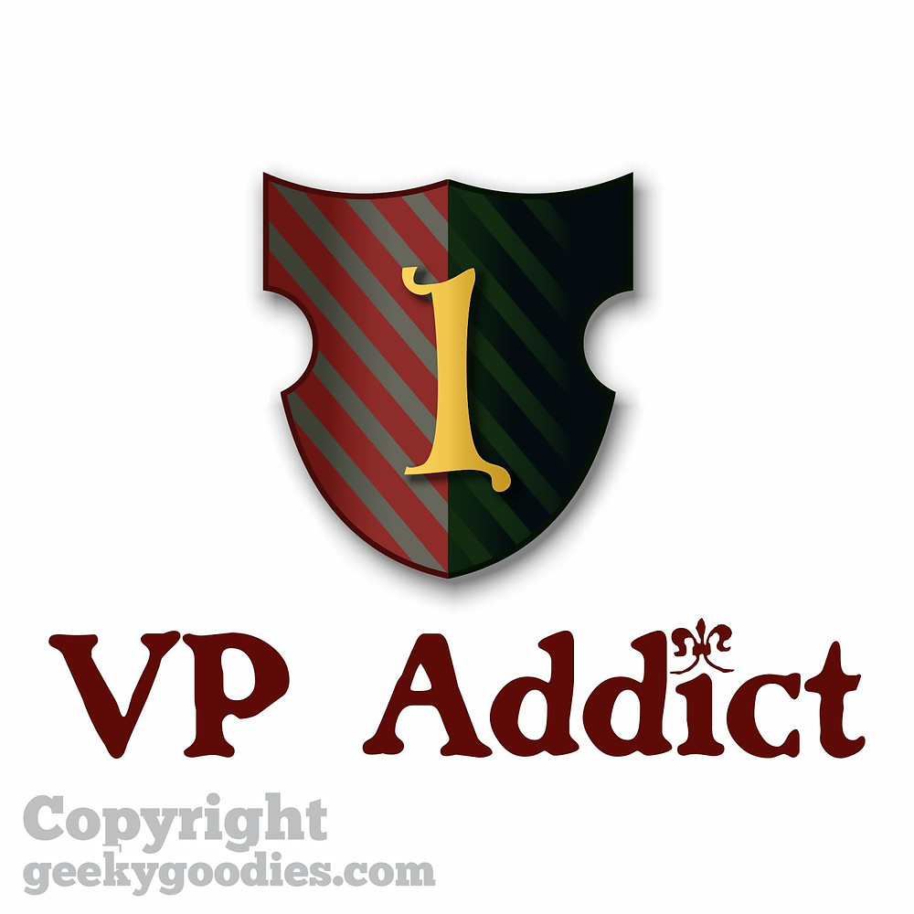 VP (Victory Point) Addict White T-shirt | Board Game T-shirts | T-shirts for Board Gamers | Geeky Goodies