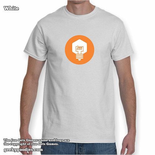 JonGetsGames Mens/Unisex White T-shirt