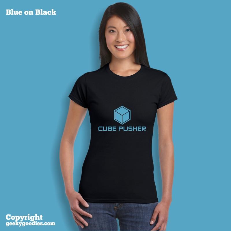 Cube Pusher Tshirt | Women's Tshirts for Board Gamers | Geeky Goodies