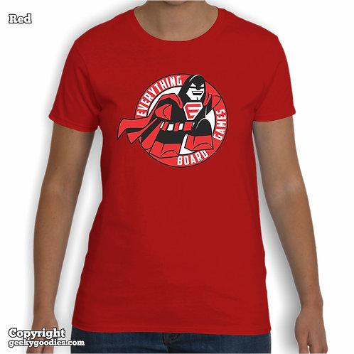 Everything Board Games (Full-Size Logo) Ladies T-shirt