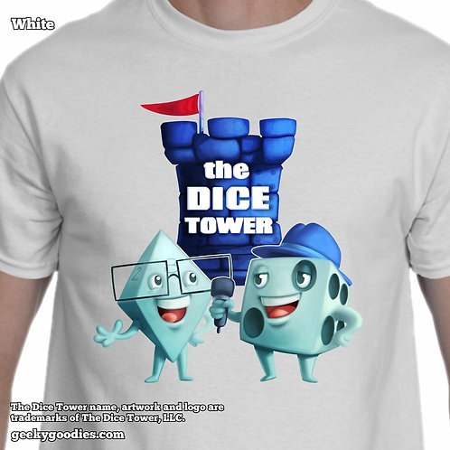 Dice Eric & Tom from The Dice Tower Mens/Unisex White T-shirt