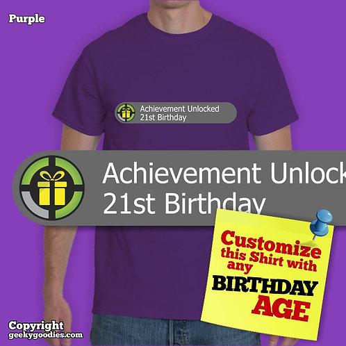 Achievement Unlocked: Custom Birthday Shirt