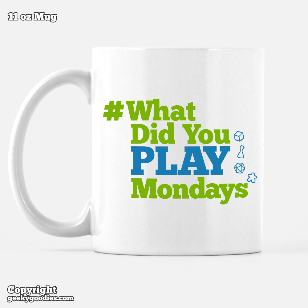 Get a coffee mug to show your support of #WhatDidYouPlayMondays
