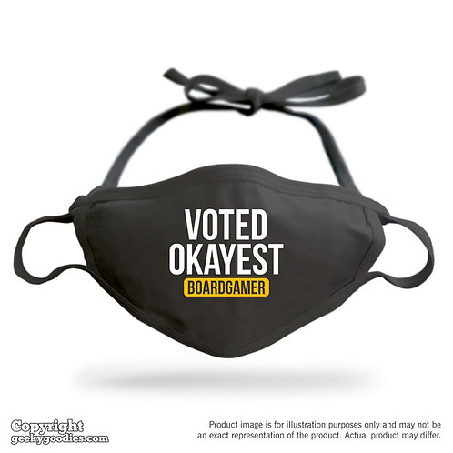 Voted Okayest Boardgamer Adjustable Cloth Face Mask
