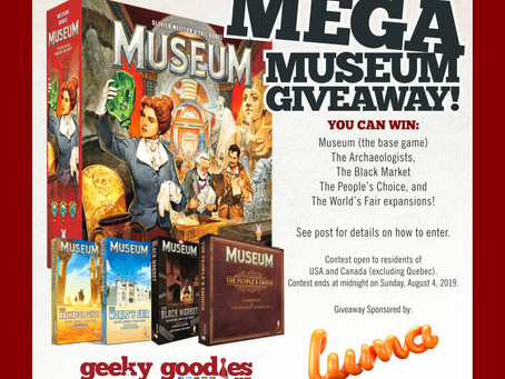 Board Game Giveaway! Mega MUSEUM Giveaway!