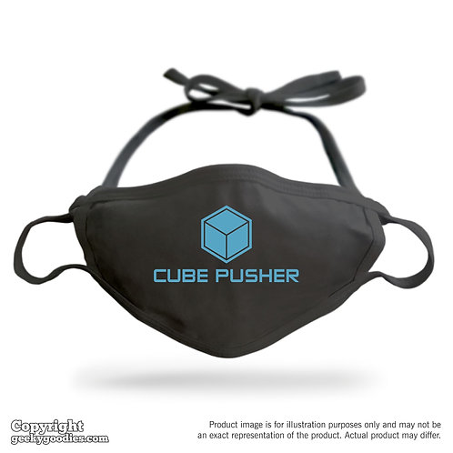 Cube Pusher Adjustable Cloth Face Mask