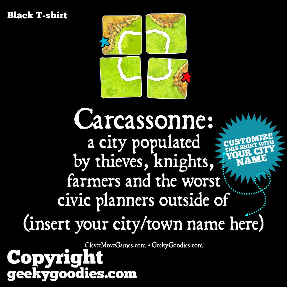 Carcassonne Inspired Tshirt | Geeky Goodies | T-shirts for Analog Gamers