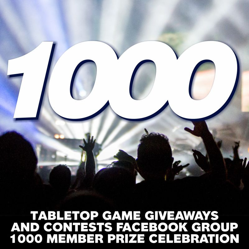 Contest Alert! A chance to win a bunch of board games and other cool stuff | Tabletop Game Giveaways and Contests Facebook Group