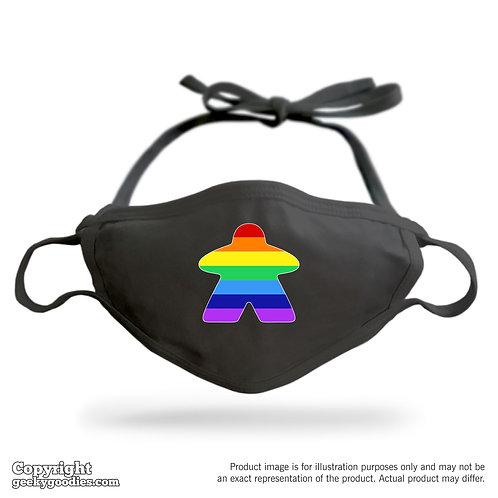 Rainbow Meeple Adjustable Cloth Face Mask