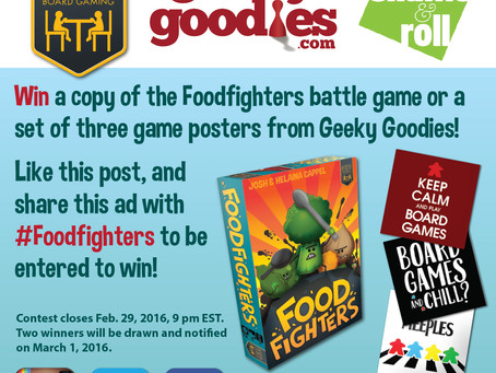 Our First Contest! Win a copy of Foodfighters or Geeky Goodies Posters