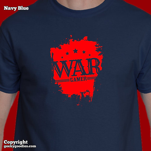 War Gamer (Red Splatter) Mens/Unisex T-shirts