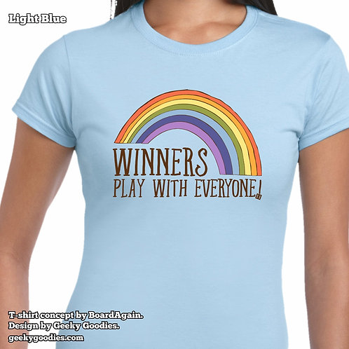 Winners Play With Everyone Women's FITTED T-shirt (Light Colours)