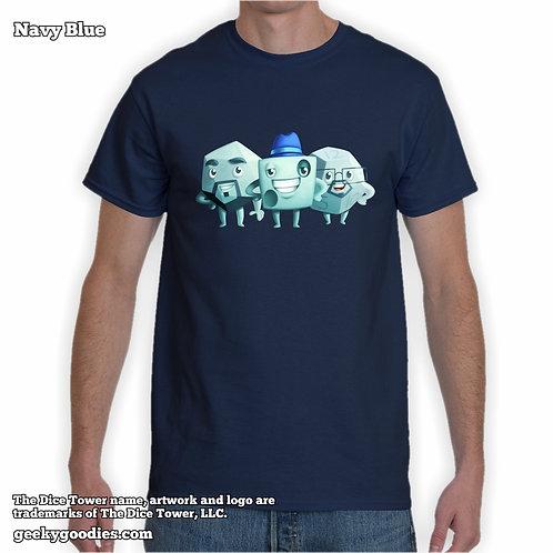 TALL Size Dice Zee, Tom & Sam (Dice Tower) Mens/Unisex T-shirt