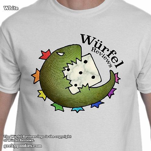 Würfel Reviews Mens/Unisex White T-shirt