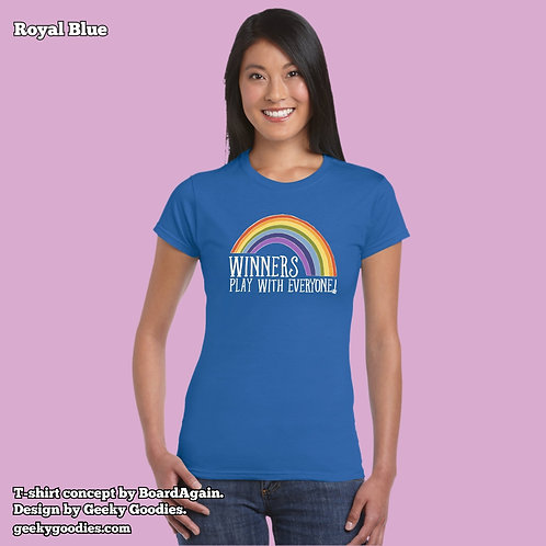 Winners Play With Everyone Women's FITTED T-shirt (Dark Colours)